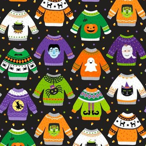 Halloween Sweaters-Straight-Stars