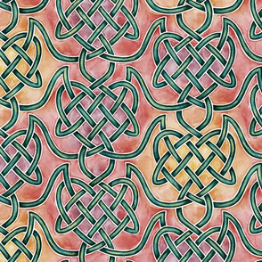 Large Watercolour Knotwork — Warm