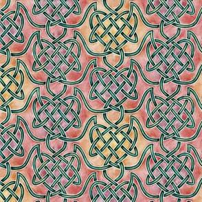Small Watercolour Knotwork — Warm