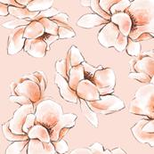 Tender pink flowers