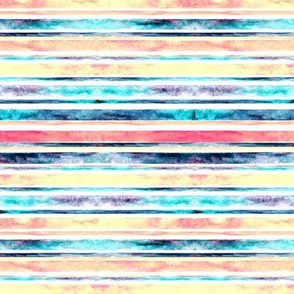 Watercolor Stripes - Pastel (Small Horizontal Version)