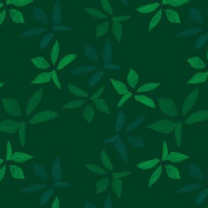 Kathrins_Papier_christmas_leaves_green