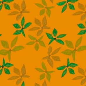 Kathrins_Papier_christmas_leaves_yellow