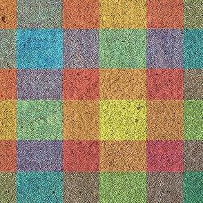 Textured Rainbow Plaid
