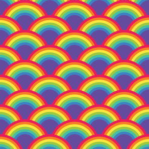 Rainbow Retro Abstract  Pattern
