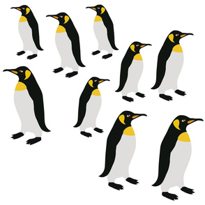 Penguins Winter Pattern
