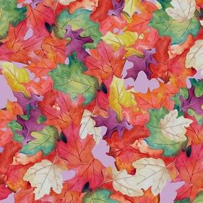Falling Leaves-Purple Backg