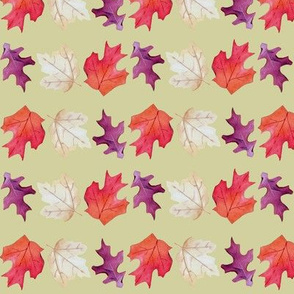 Falling Leaves Print.-Yellow