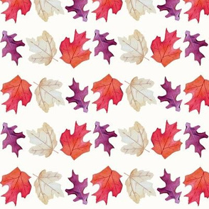 Falling Leaves Print-white