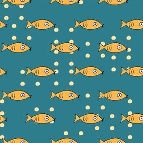 Bubbly Fish (blue)