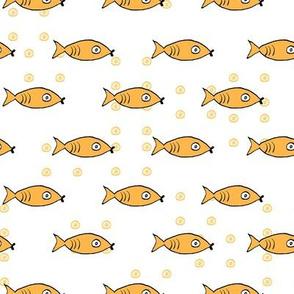 Bubbly Fish (white)