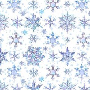 Fancy Snowflakes Santa Baby