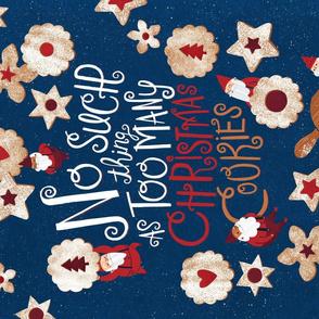 Christmas Linzer Cookie Elf Tea Towel