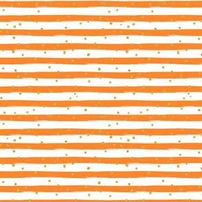 Orange gold dot Stripe Halloween