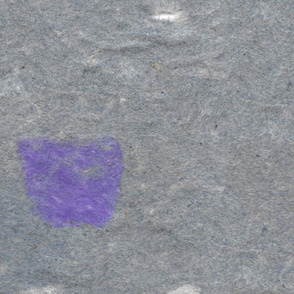 Purple and White Puffs on Gray Handmade Paper