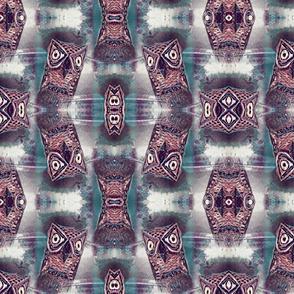 Owl Montage Wacky Owl Pattern