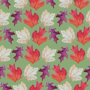 Falling Leaves Print #2-Green