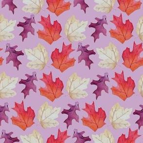 Falling Leaves Print #2-Purple