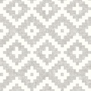 woven aztec - geometric - boho - stone - LAD19