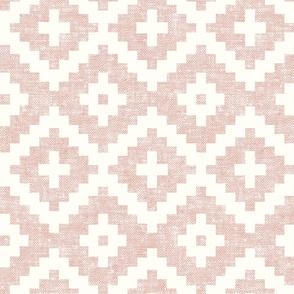 woven aztec - geometric - boho - silk pink - LAD19