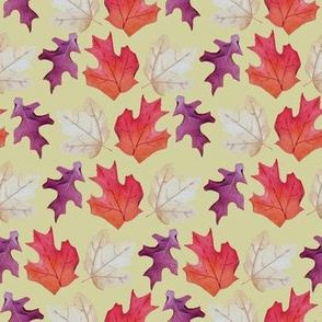 Falling Leaves Print #2-Yellow
