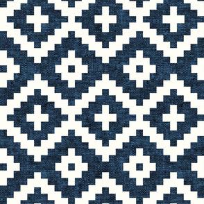 woven aztec - geometric - boho - denim - LAD19