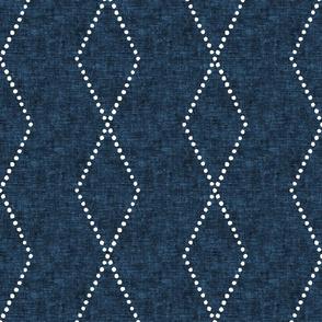 large geometric diamonds - boho - denim - LAD19