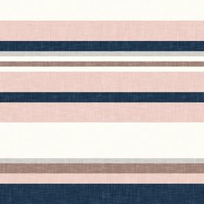 multi stripes - denim and stone (wild horse coordinate) - LAD19