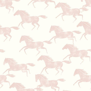 wild horses - silk pink on off white  - LAD19