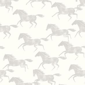 wild horses - stone on off white  - LAD19