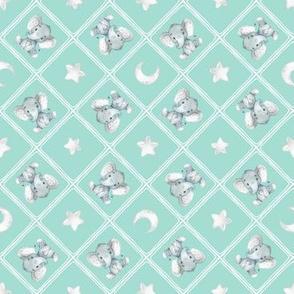 Baby Elephants (mint)
