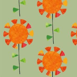 Sunflowers (green)