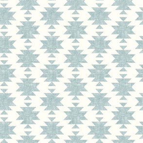 woven aztec - slight blue on cream  - LAD19