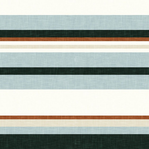 multi stripes - ginger, light blue, and evergreen (wild horse coordinate) - LAD19
