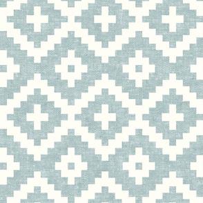woven aztec - geometric - boho - light blue - LAD19