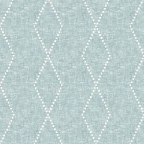large geometric diamonds - boho -  light blue - LAD19