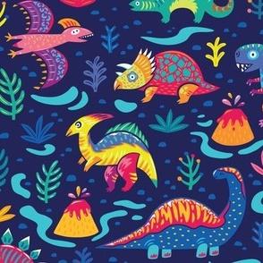 Jurassic Period navy blue