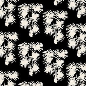 Palms | Black and Off White