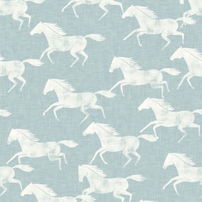 wild horses - light blue  - LAD19