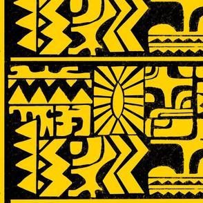 Yellow Black 80s Inspired Eleven Aztec