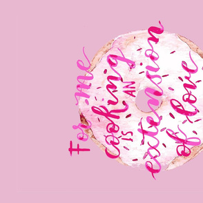 Watercolor Pink Hand lettering Cooking