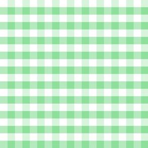 Plaids Green White