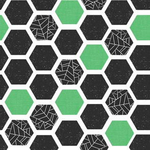 Mod Hexagons Screen Print Style