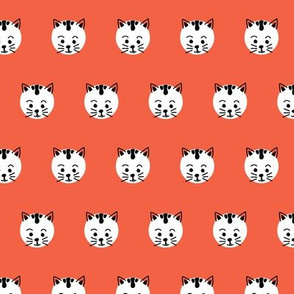 Polka Dot Cats Red