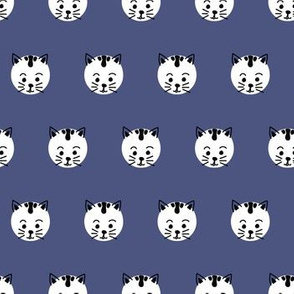 Polka Dots Kitty Blue