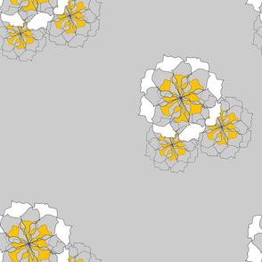 rose - grey & yellow