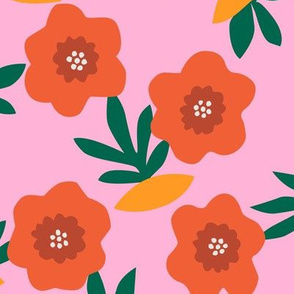 Bloom pattern in pink