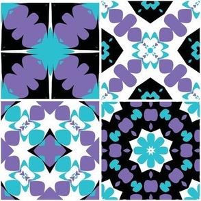 Midnight flowers pattern