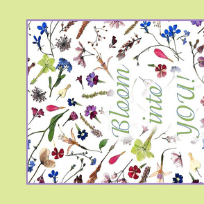 tea towel boho wildflowers