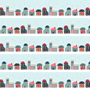 Winter Village STripes